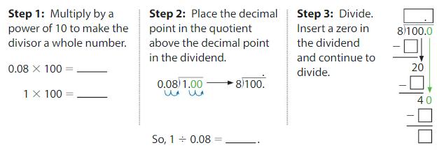 Big Ideas Math Solutions Grade 5 Chapter 7 Divide Decimals 7.8 3