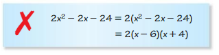 Big Ideas Math Algebra 1 Answer Key Chapter 7 Polynomial Equations and Factoring 7.6 3