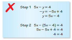 Big Ideas Math Algebra 1 Answers Chapter 5 Solving Systems of Linear Equations 5.2 2