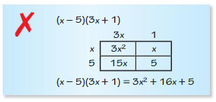 Big Ideas Math Algebra 1 Answers Chapter 7 Polynomial Equations and Factoring 7.2 5