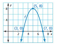 Big Ideas Math Algebra 1 Answers Chapter 8 Graphing Quadratic Functions ct 4