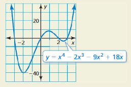 Big Ideas Math Algebra 1 Solutions Chapter 7 Polynomial Equations and Factoring 7.8 12