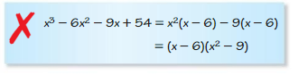 Big Ideas Math Algebra 1 Solutions Chapter 7 Polynomial Equations and Factoring 7.8 9