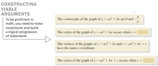 Big Ideas Math Algebra 1 Solutions Chapter 8 Graphing Quadratic Functions 8.3 2