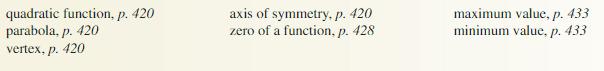 Big Ideas Math Algebra 1 Solutions Chapter 8 Graphing Quadratic Functions 8.3 20