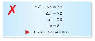 Big Ideas Math Algebra 1 Solutions Chapter 9 Solving Quadratic Equations 9.3 5