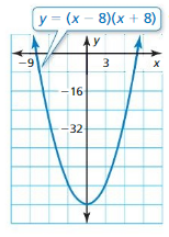 Big Ideas Math Answer Key Algebra 1 Chapter 7 Polynomial Equations and Factoring 7.4 5