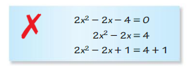 Big Ideas Math Answer Key Algebra 1 Chapter 9 Solving Quadratic Equations 9.4 6