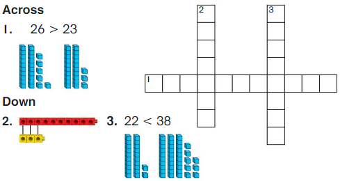 Big Ideas Math Answer Key Grade 1 Chapter 7 Compare Two-Digit Numbers 2