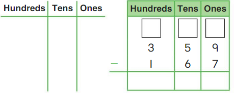 Big Ideas Math Answer Key Grade 2 Chapter 10 Subtract Numbers within 1,000 10.5 3