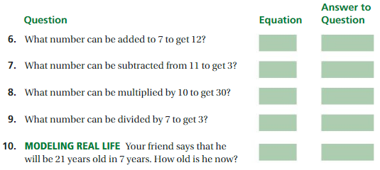 Big Ideas Math Answer Key Grade 6 Chapter 6 Equations 4
