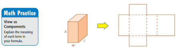 Big Ideas Math Answer Key Grade 7 Chapter 10 Surface Area and Volume 10.1 1
