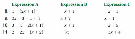 Big Ideas Math Answer Key Grade 7 Chapter 3 Expressions 7