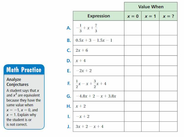 Big Ideas Math Answer Key Grade 7 Chapter 3 Expressions 9