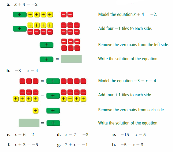 Big Ideas Math Answer Key Grade 7 Chapter 4 Equations and Inequalities 6