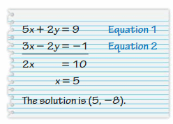 Big Ideas Math Answer Key Grade 8 Chapter 5 Systems of Linear Equations 39