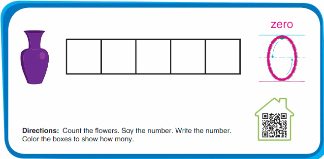 Big Ideas Math Answer Key Grade K Chapter 1 Count and Write Numbers Numbers 0 to 5 104