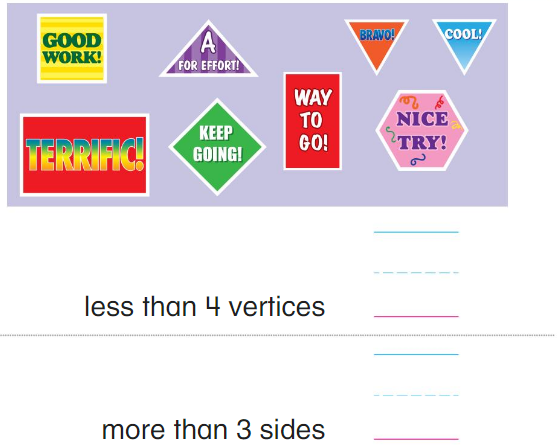 Big Ideas Math Answer Key Grade K Chapter 11 Identify Two-Dimensional Shapes 11.1 14
