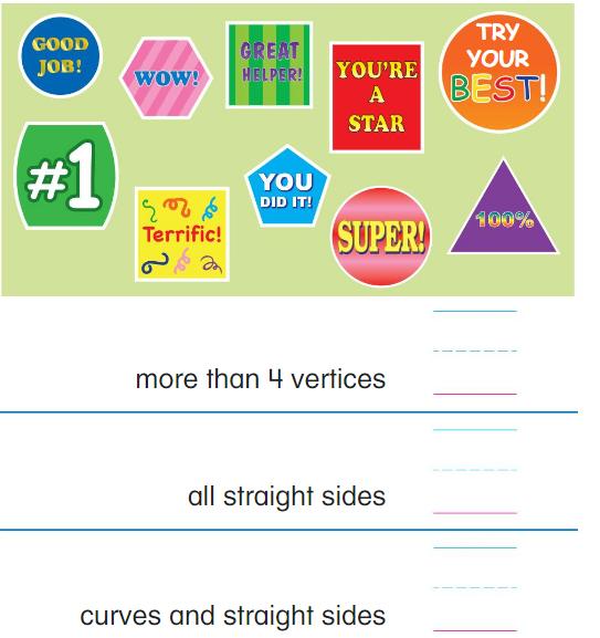 Big Ideas Math Answer Key Grade K Chapter 11 Identify Two-Dimensional Shapes 11.1 9