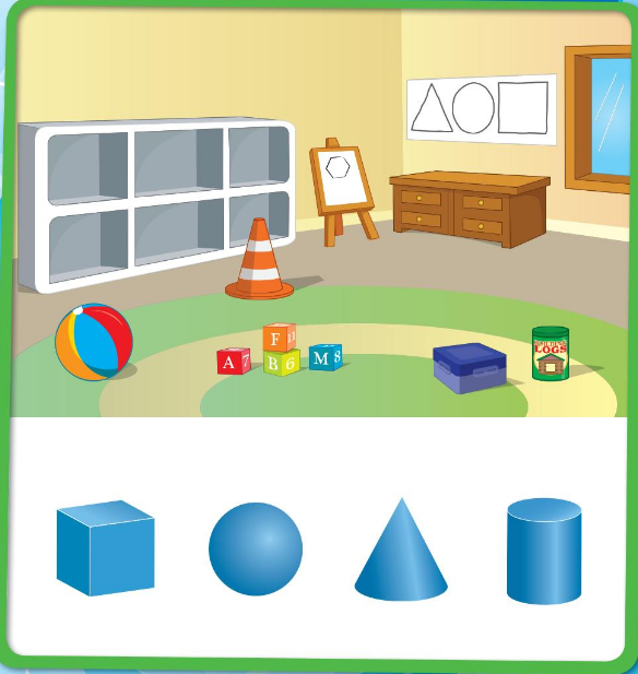 Big Ideas Math Answer Key Grade K Chapter 12 Identify Three-Dimensional Shapes 12.1 1