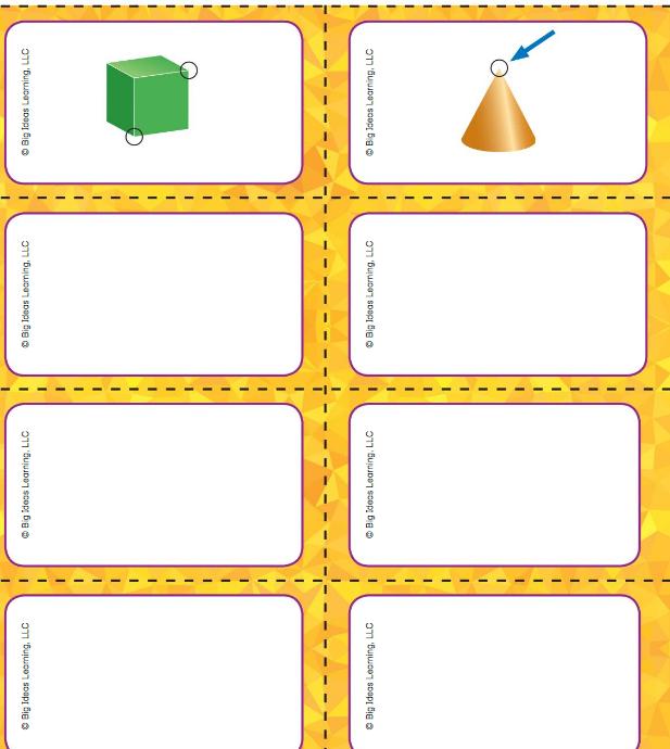 Big Ideas Math Answer Key Grade K Chapter 12 Identify Three-Dimensional Shapes v 12