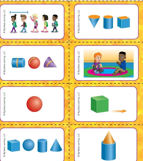 Big Ideas Math Answer Key Grade K Chapter 12 Identify Three-Dimensional Shapes v 8
