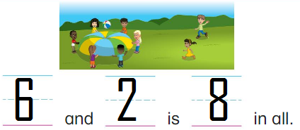 Big-Ideas-Math-Answer-Key-Grade-K-Chapter-6-Add-Numbers-within-10-6.1-9