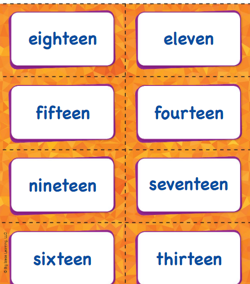 Big Ideas Math Answer Key Grade K Chapter 8 Represent Numbers 11 to 19 v 2