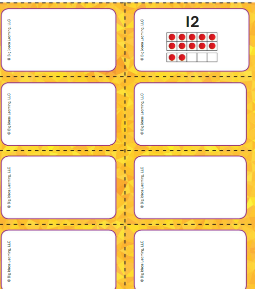 Big Ideas Math Answer Key Grade K Chapter 8 Represent Numbers 11 to 19 v 5