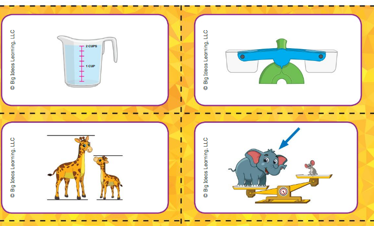 Big Ideas Math Answer Key Grade K Chapter 13 Measure and Compare Objects v 4