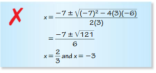 Big Ideas Math Answers Algebra 1 Chapter 9 Solving Quadratic Equations 9.5 4