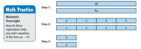 Big Ideas Math Answers Grade 6 Chapter 6 Equations 6.3 1