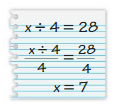 Big Ideas Math Answers Grade 6 Chapter 6 Equations 6.3 8