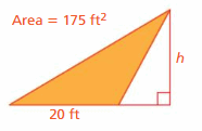Big Ideas Math Answers Grade 6 Chapter 7 Area, Surface Area, and Volume 52