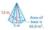 Big Ideas Math Answers Grade 7 Chapter 10 Surface Area and Volume 10.3 5