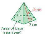 Big Ideas Math Answers Grade 7 Chapter 10 Surface Area and Volume cr 14