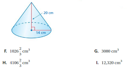 Big Ideas Math Answers Grade 8 Chapter 10 Volume and Similar Solids cp 2
