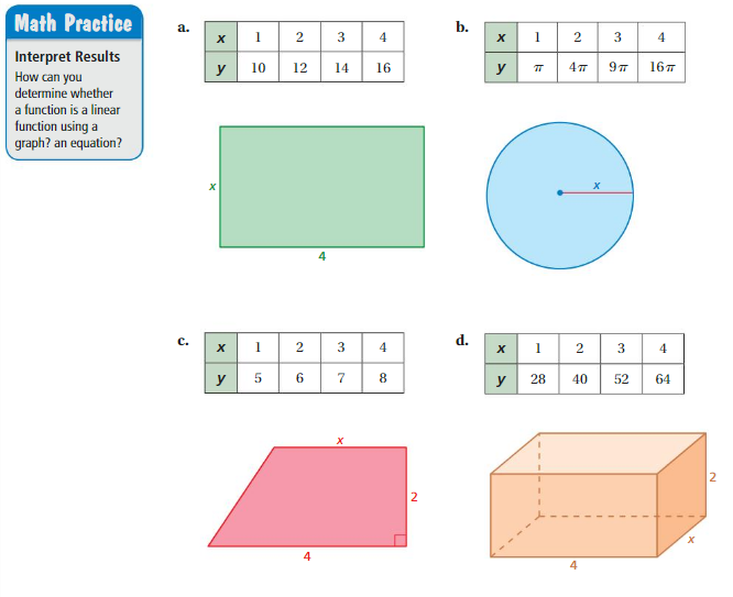 Big Ideas Math Answers Grade 8 Chapter 7 Functions 7.3 1