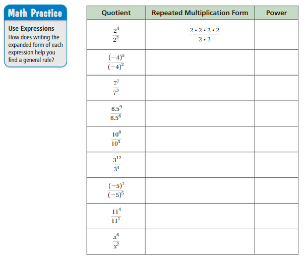 Big Ideas Math Answers Grade 8 Chapter 8 Exponents and Scientific Notation 8.3 1