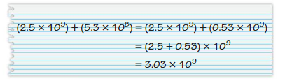 Big Ideas Math Answers Grade 8 Chapter 8 Exponents and Scientific Notation 8.7 6