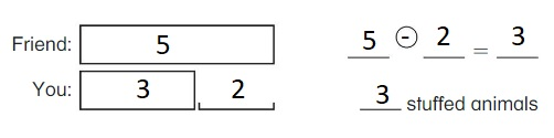 Big-Ideas-Math-Book-1st-Grade-Answer-Key-Chapter-3-More-Addition-and-Subtraction-Situations-Compare-Problems-Smaller-Unknown-Homework-&-Practice-3.5-Question-9