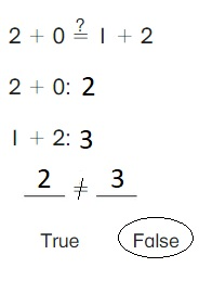 Big-Ideas-Math-Book-1st-Grade-Answer-Key-Chapter-3-More-Addition-and-Subtraction- Situations-Lesson-3.6-True-or-False-Equations-Show-and-Grow-question-1