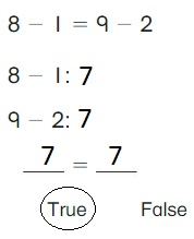 Big-Ideas-Math-Book-1st-Grade-Answer-Key-Chapter-3-More-Addition-and-Subtraction-Situations-True-or-False-Equations-Practice-3.6-question-2
