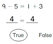 Big-Ideas-Math-Book-1st-Grade-Answer-Key-Chapter-3-More-Addition-and-Subtraction-Situations-True-or-False-Equations-Practice-3.6-question-3