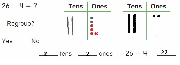Big-Ideas-Math-Book-2nd-Grade-Answer-Key-Chapter-6-Fluently-Subtract-100-Lesson 6.1-Model- Regroup – Subtract-Show-Grow-Question-2