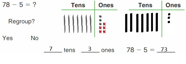 Big-Ideas-Math-Book-2nd-Grade-Answer-Key-Chapter-6-Fluently-Subtract-100- Model-Regroup-Subtract-Homework-Practice 6.1 -Question-2