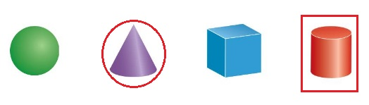 Big-Ideas-Math-Book-Grade-K-Answer-Key-Chapter-12-Identify-Three-Dimensional Shapes-Cones-and-Cylinders-Homework-&-Practice-12.4- Directions-Question-1