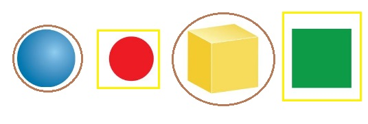 Big-Ideas-Math-Book-Grade-K-Answer-Key-Chapter-12- Identify-Three-Dimensional-Shapes- Identify Three-Dimensional Shapes Chapter Practice-12.1-Two-and-Three-Dimensional-Shapes-Question 1
