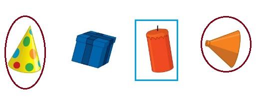 Big-Ideas-Math-Book-Grade-K-Answer-Key-Chapter-12- Identify-Three-Dimensional-Shapes- Identify Three-Dimensional Shapes Chapter Practice-12.4-Cones-and-Cylinders-Question-7