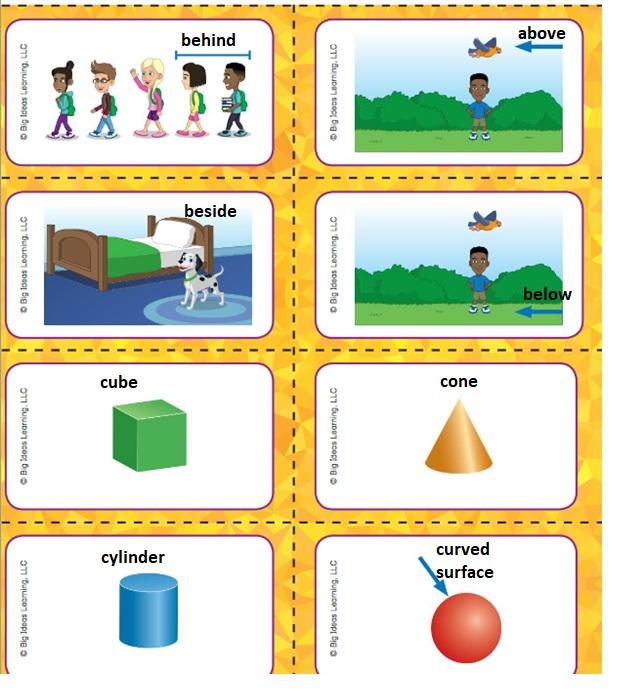 Big-Ideas-Math-Book-Grade-K-Answer-Key-Chapter-12-Identify-Three-Dimensional-Shapes-Identify-Three-Dimensional-Shapes-Vocabulary-1